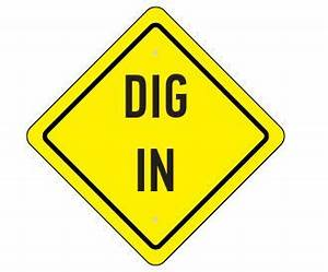 Dig into the food... construction theme party sign ...