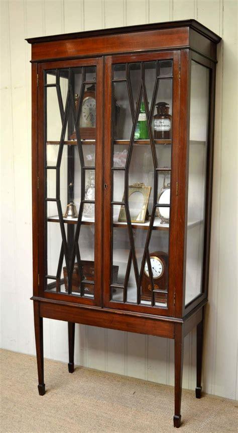 mahogany display cabinet edwardian mahogany display cabinet antiques atlas 3954