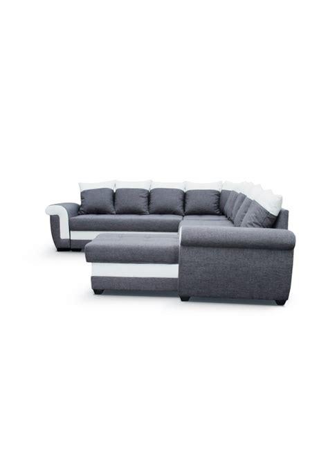 canapé en l convertible canapé d 39 angle universel convertible en tissu gris et