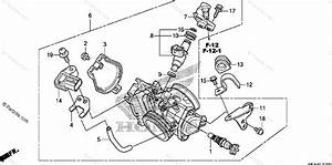 Honda Motorcycle 2009 Oem Parts Diagram For Throttle Body