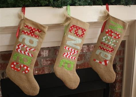 reserved listing burlap christmas stocking personalized