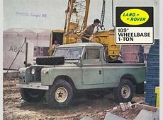 Land Rover One Ton Hard Top Series 2a Advertising Brochure