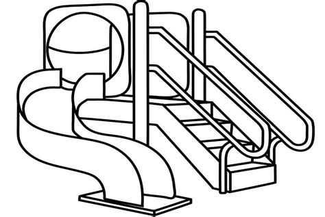 playground coloring pages sliding playground coloring picture