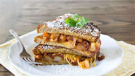 Cheesy Mexican Style Stuffed French Toast Sandwiches