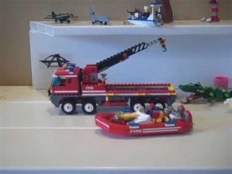 Lego Fire Truck And Boat by Lego Fire Truck And Boat 7213 Full Review And Fail By 8
