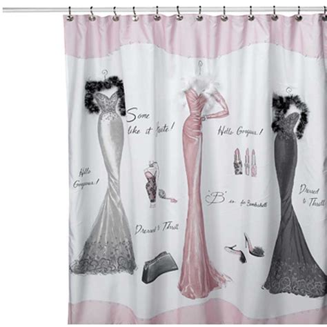 dressed  thrill shower curtain