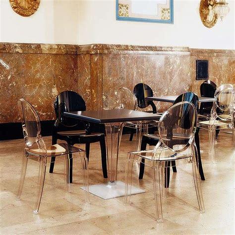 chaise en plexi chaise de style en polycarbonate transparent elizabeth 4 pieds tables chaises et tabourets