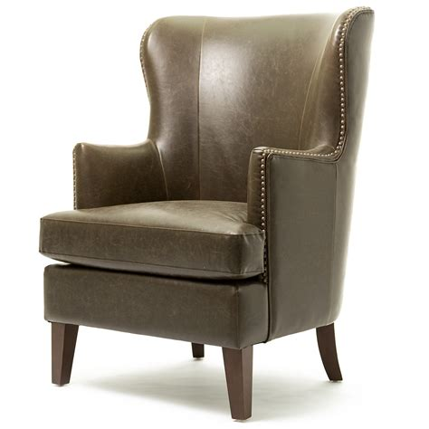 marbled bonded leather club chair