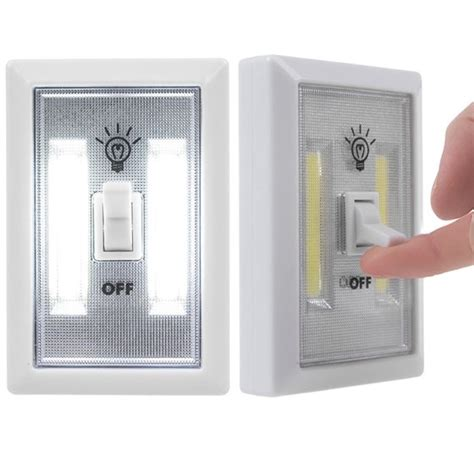 cob led wall switch lights emergency battery operated light indoor outdoor home