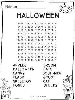 halloween halloween word search halloween words