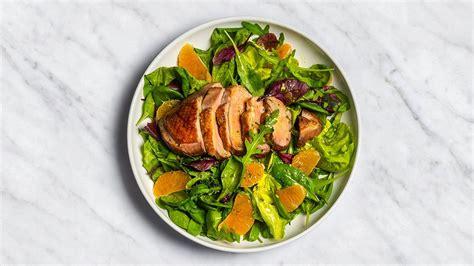 Sezonas salāti ar mandarīniem un pīles gaļu - Recepte ...