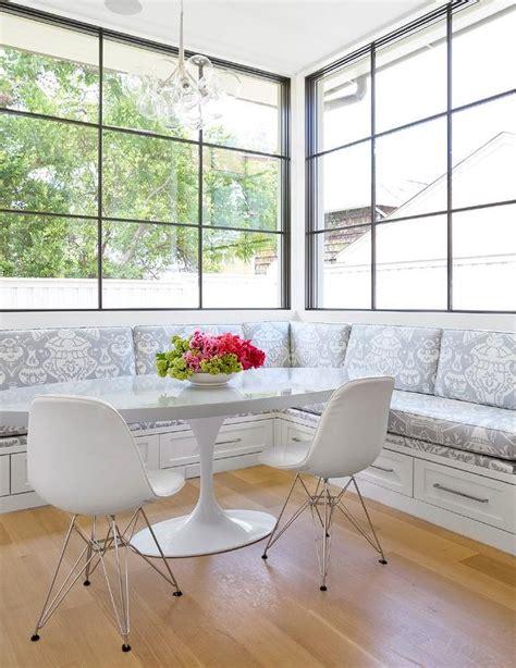L Shaped Banquette - l shaped banquette contemporary kitchen
