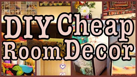 diy cheap room decor ways  spice   room youtube