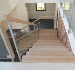 escalier design limon central 1 quart tournant palier