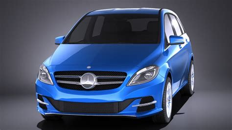 Mercedes B Class Backgrounds by Mercedes B Class Electric Drive 2016 Vray 3d Model