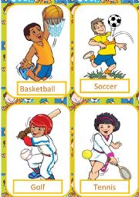 Esl Worksheets For Beginners Sports Flash Cards