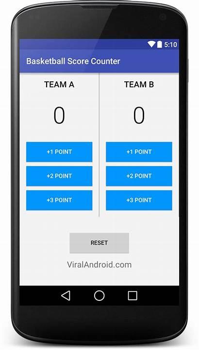 Android Score Counter Basketball App Scoreboard Application
