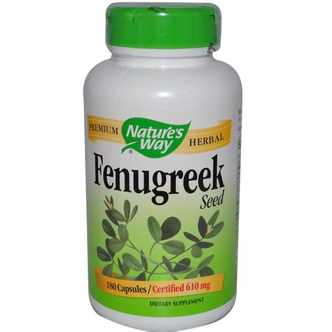 Natures Way Fenugreek Seed 610 Mg 180 Capsules Iherbcom