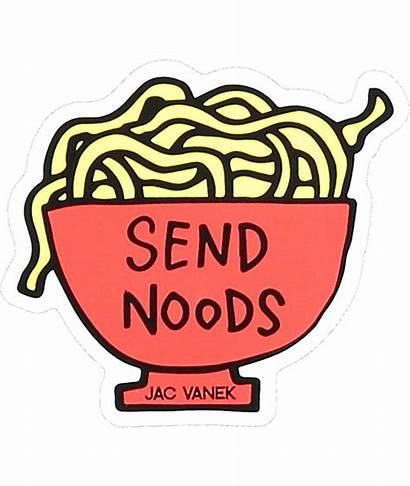 Sticker Noods Send Zumiez Stickers Jac Vanek