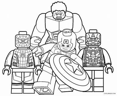 Lego Coloring Pages Superhero Printable Cool2bkids