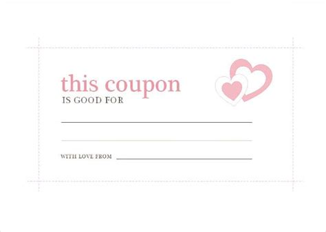 homemade coupon templates  sample