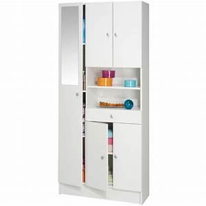Meuble Rangement Salle De Bain : meuble de salle de bain colonne imbattable 5 portes ~ Edinachiropracticcenter.com Idées de Décoration