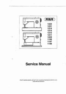 Pfaff Service Manuals Archives - Page 7 Of 9