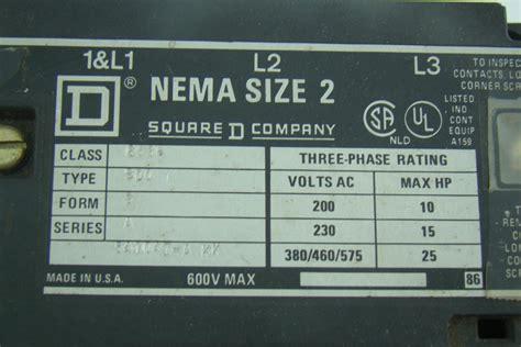 square d size 2 motor starter 8536sd01s
