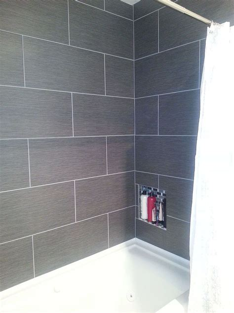 Small Bathroom Large Tiles by Small Master Bathroom Makeover Home Sweet Home Grey