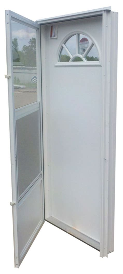 32x72 aluminum door fan window rh for mobile home