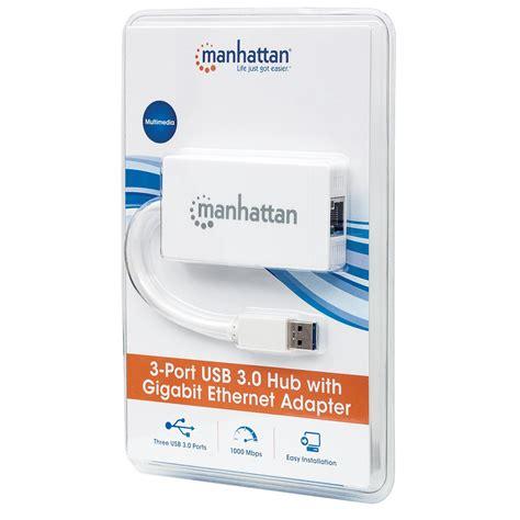 Porta Usb 3 by Hub 3 Porte Usb 3 0 Con Adattatore Ethernet Gigabit Su