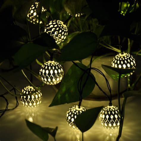 10 balles marocaine solaire cordes lanternes led guirlande