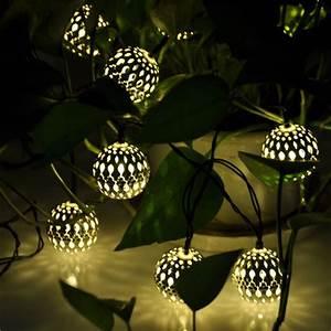 10 balles marocaine solaire cordes lanternes led guirlande With superb decoration exterieur pour jardin 6 interieur marocain design 15