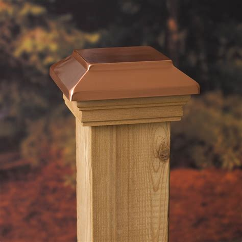 deckorators 4x4 victoria copper plateau post cap at diy