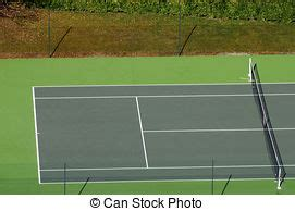 tennis court top view happy young couple play tennis game outdoor man  woman