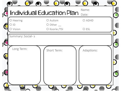 iep template a happy time freebie template for iep s or ilp s or whatever you call them