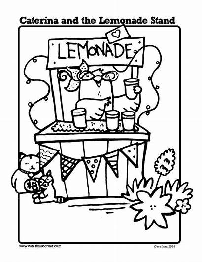 Lemonade Coloring Stand Caterina Pages Printables Sheets