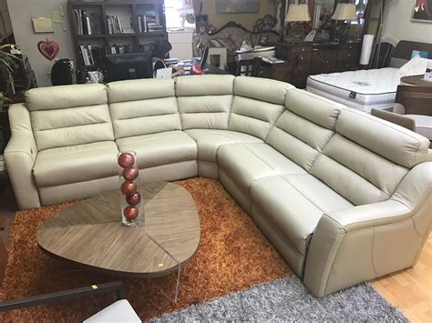 beige leather reclining sofa kuka sectional sofa leather recliner beige leather