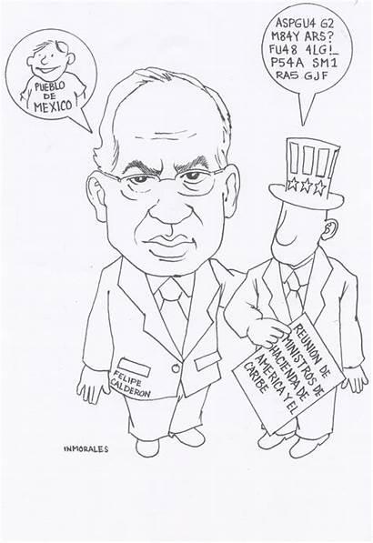 Felipe Calderon Caricatura Politica Relaciones Exteriores Cel