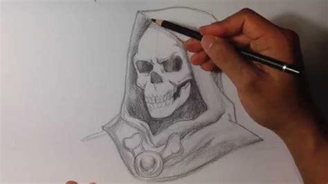 draw skeletor   man skull drawings youtube