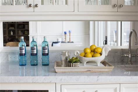 Mirrored Backsplash In Kitchen by Kitchen Built In Bar With Mirrored Backsplash