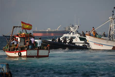 Fishing Boat Is Spanish by Gibraltar Navy Standoff With Spanish Fishing Boats