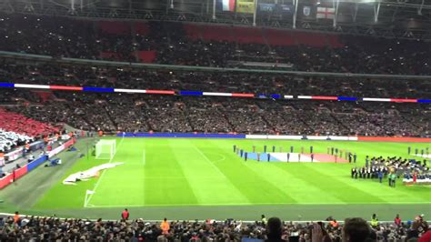 England France Fans Sing French National Anthem