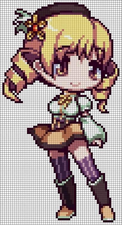 Perler Pixel Mami Beads Tomoe Deviantart Pattern