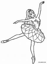 Coloring Ballet Pages Barbie Printable Cool2bkids sketch template