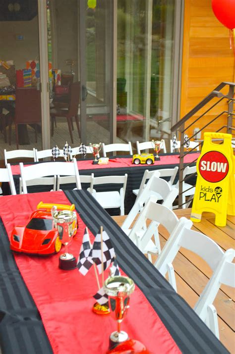 karas party ideas race car themed birthday party decor
