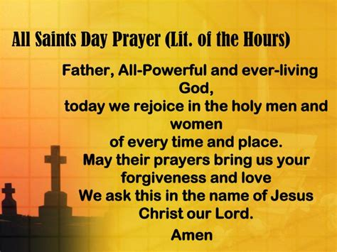 saints day prayer lit   hours powerpoint