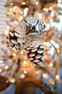jingle bell pinecone ornament handmade ornament no 20 bystephanielynn