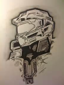 Master Chief Pencil Drawing