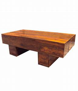 Solid wood log coffee table buy online at best price in for Best place to buy coffee table